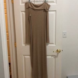 House of CB - off the shoulder sweater dress